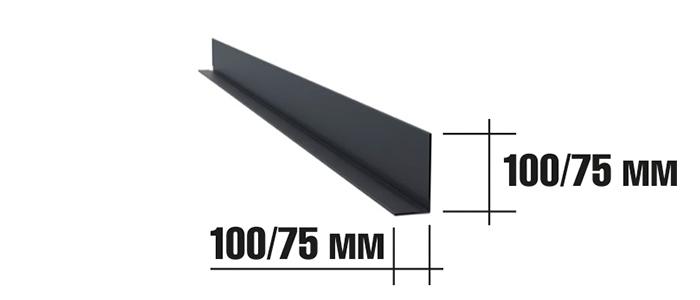 Угловой элемент для реечного фасада