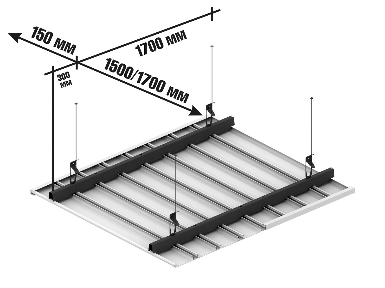 Реечный потолок ППР-84 схема крепления