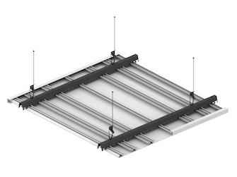 Реечный потолок ППР-КФ-схема крепления